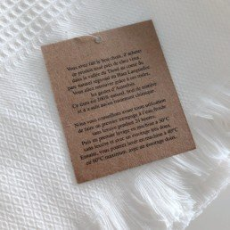 serviette coton naturel